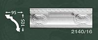 Плинтус потолочный с орнаментом из пенопласта Baraka Dekor 2140/16