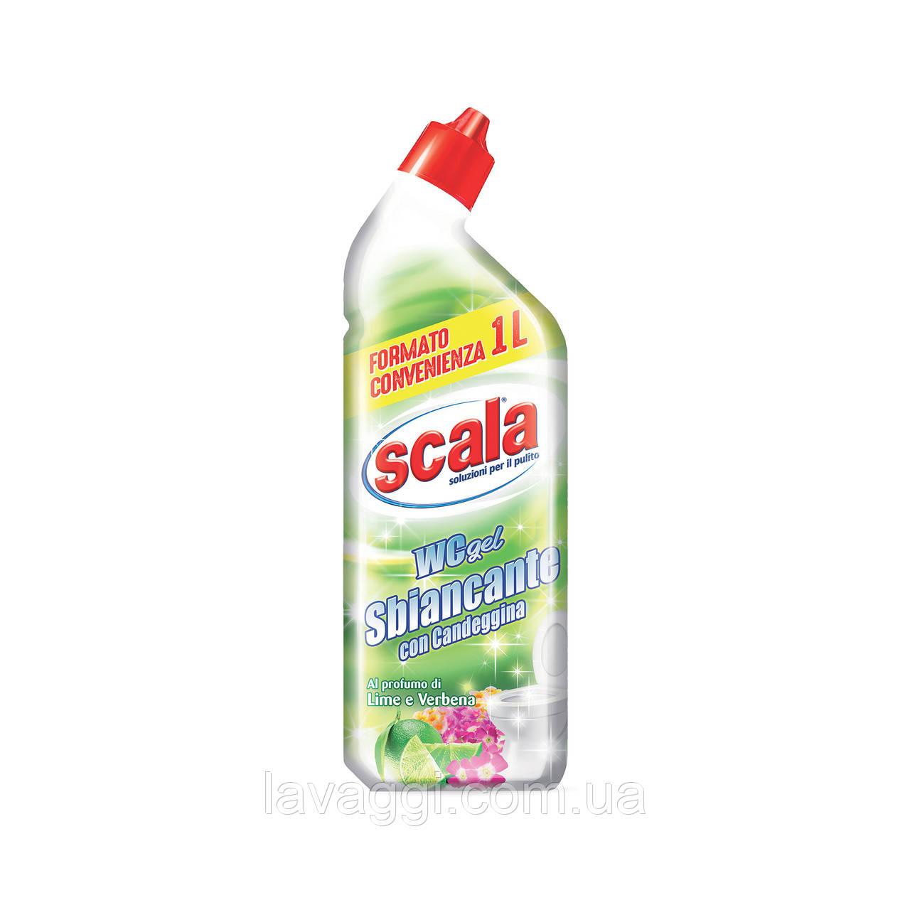 Гель для прибирання туалету з відбілювачем і ароматами лайма і вербени SCALA WC gel Sbiancante 1000 ml