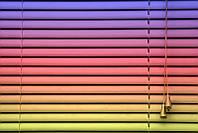 Горизонтальные жалюзи цветные, ламель метал 25мм