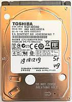 "Жесткий диск для ноутбука Toshiba 500GB 2.5"" 8MB 5400rpm 3Gb/s (MQ01ABD050) SATAII Б/У"