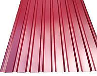 Профнастил кровельный  ПК-20 красный толщина 0,45 размер 2Х1,15м