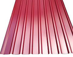 Профнастил покрівельний ПК-20 червоний товщина 0,45 розмір 2Х1,15м