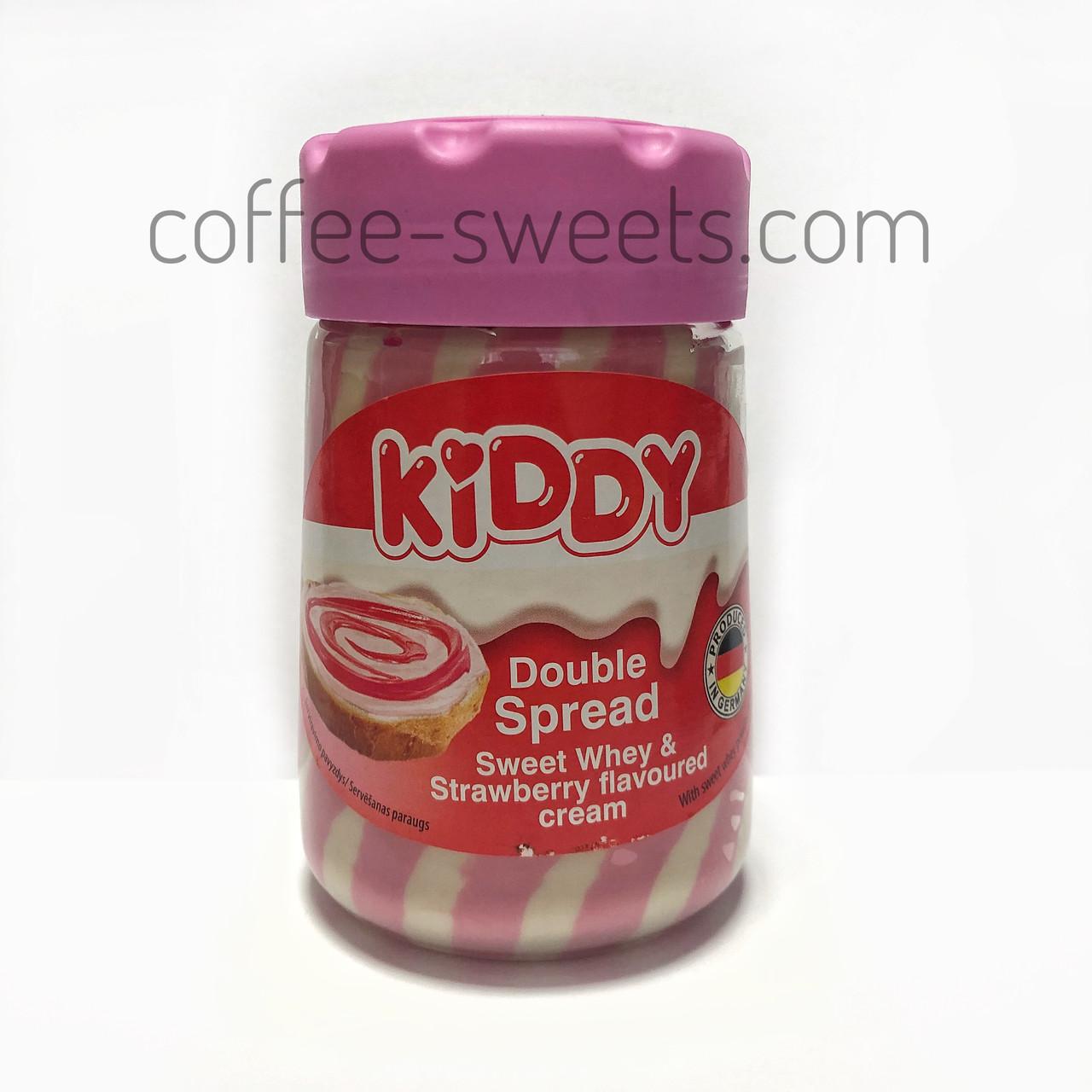 Крем-паста Kiddy Double Spread Sweet Whey & Strawberry flavoured Cream 400g