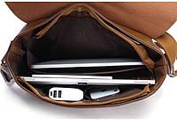 Мужская кожаная сумка-портфель. Модель с10, фото 2
