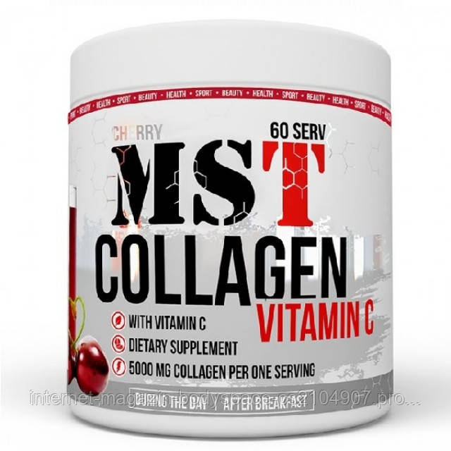 MST Sport Nutrition, Коллаген Collagen + Vitamin C, 390 грамм