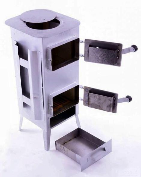 Печь стальная буржуйка 160 м2 7 шамотных кирпичей (Піч буржуйка стальна з шамотноі цегли)