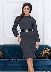 Платье из ангоры с поясом 4 цвета