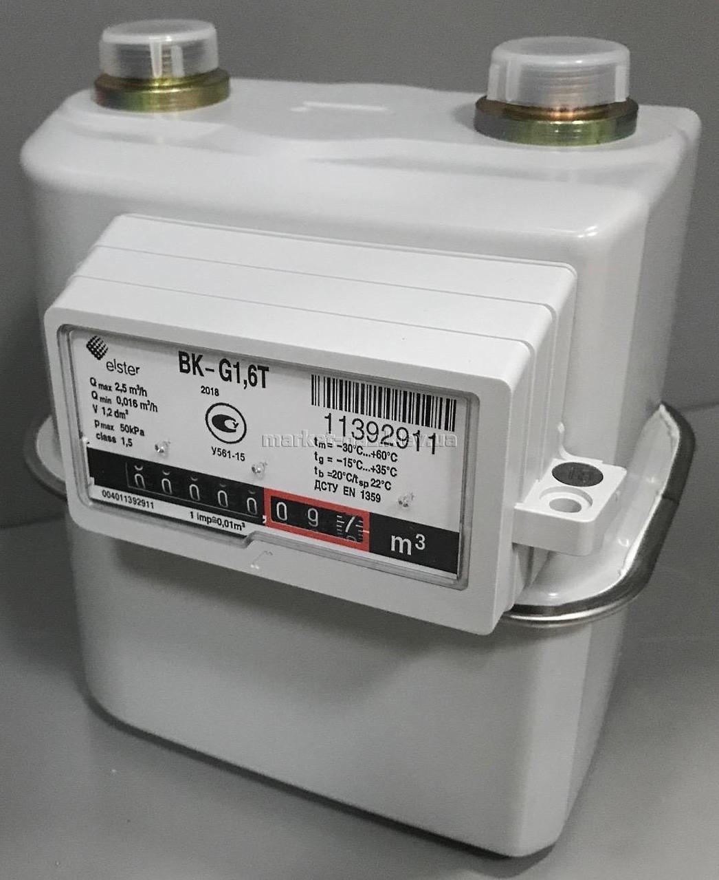 Бытовой газовый счетчик мембранный ELSTER BK G-1,6T