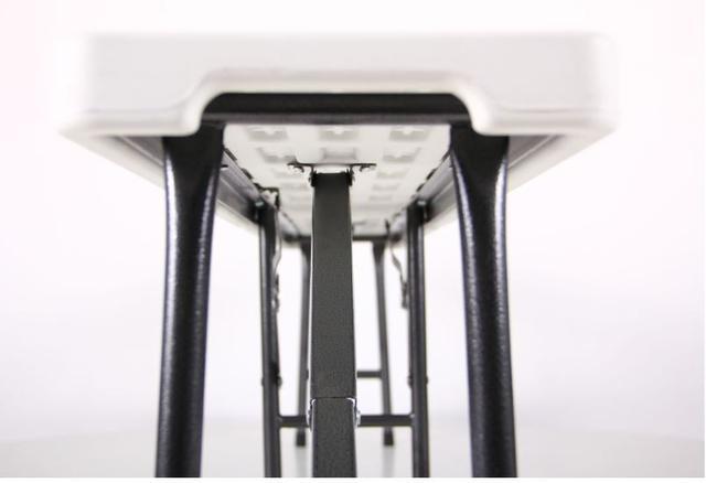 Лавочка складная Орека 180х25х43 пластик белый (Фото 6)