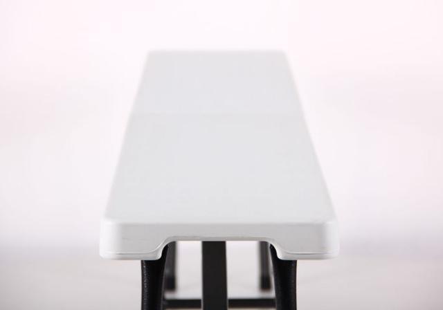 Лавочка складная Орека 180х25х43 пластик белый (Фото 7)