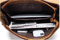 Мужская кожаная сумка-портфель. Модель с11, фото 6