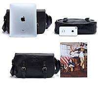 Мужская кожаная сумка-портфель. Модель с11, фото 5