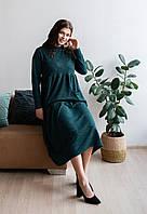 Зеленое платье в стиле бохо