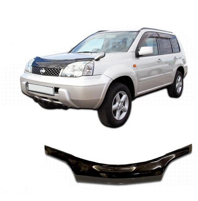 Дефлектор капота  Nissan X-Trail с 2001-2006,  Мухобойка Nissan X-Trail