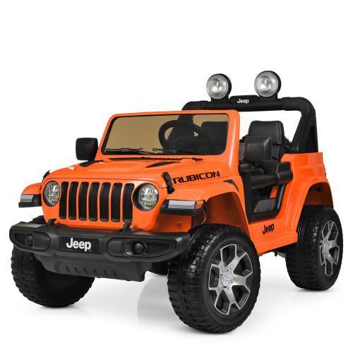 Детский электромобиль Джип M 4176(MP4)EBLR-7 оранжевый с планшетом