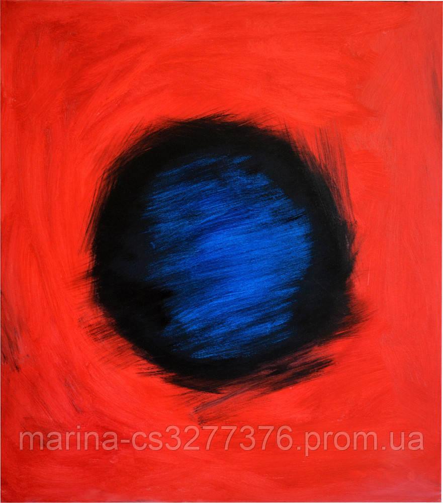 Магнит, живопись масло холст галерейная натяжка 70х80 см эффектная большая абстрактная живопись