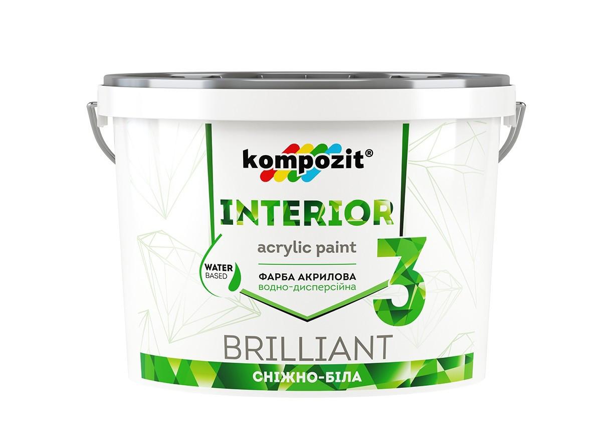 Краска интерьерная Kompozit Interior 3 (1,4 кг)