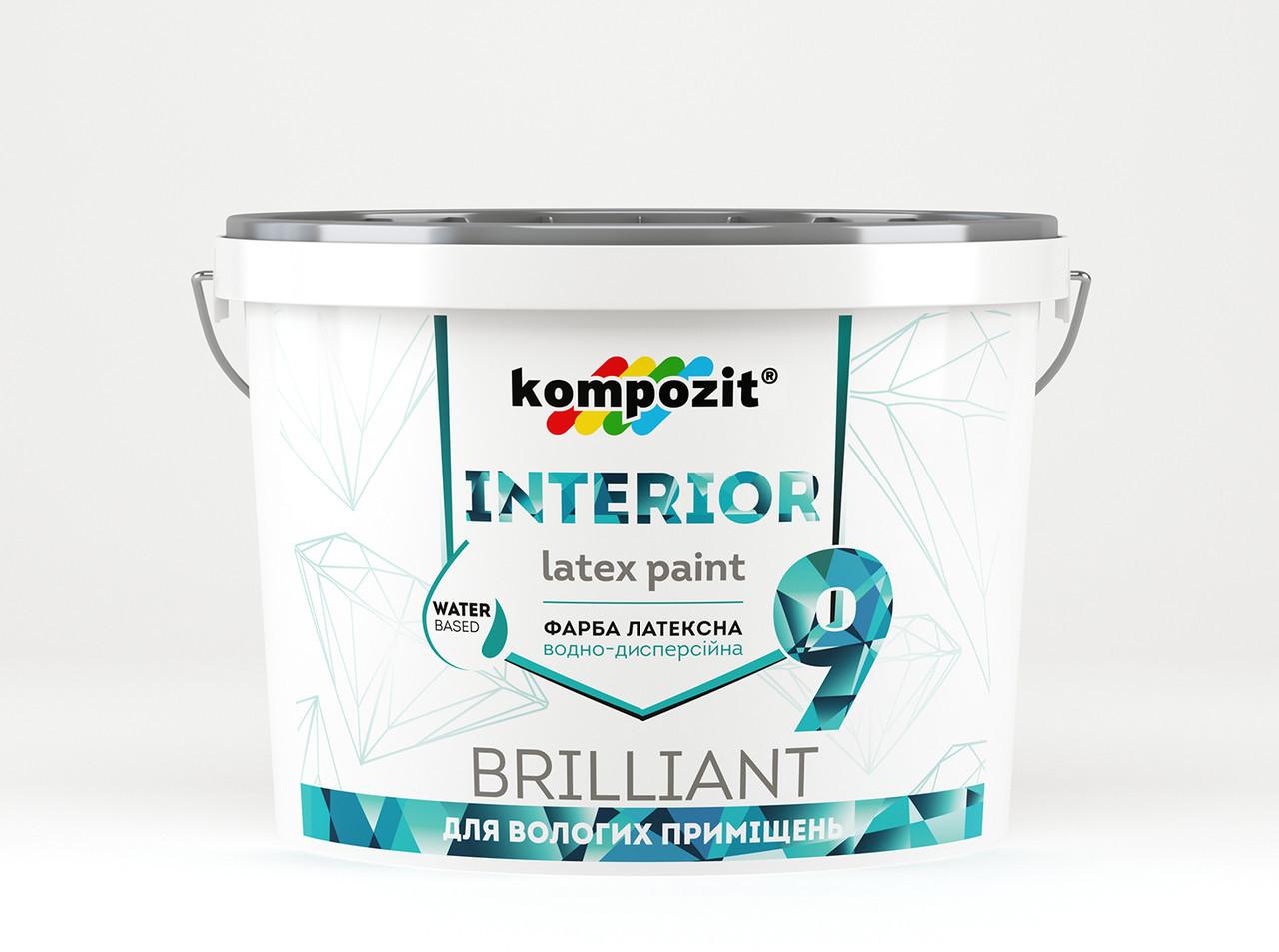 Краска для ванных комнат и откосов Kompozit INTERIOR 9 (0,8 л)