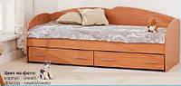 Кровать с выдвижными ящиками К-117 (ольха/ольха)