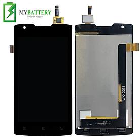 Дисплей (LCD) Lenovo A1000 IdeaPhone с сенсором черный