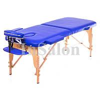 Двухсекционный деревянный складной стол ASPECT синий (NEW TEC)