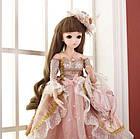 Шарнирная кукла BJD Белла рост 60 см, коричневый цвет волос + одежда и обувь в подарок 1 /3, фото 2