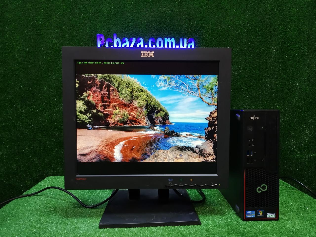 """ПК + монитор 17"""" PVA, i3-3220 3.3, 4 ГБ, 160 Гб, 2xCOM, 10 USB, USB 3.0 Настроен. Германия!"""