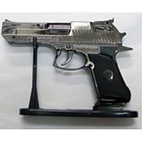 Газовая зажигалка сувенирный настольный пистолет