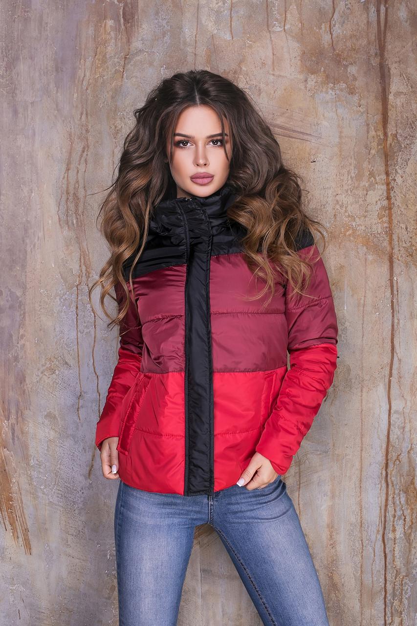 Куртка женская из плащевки на синтепоне с капюшоном (К29463)