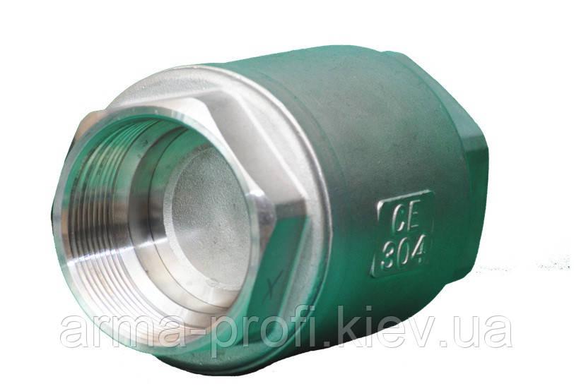 Клапан обратный муфтовый нержавеющий AISI 304 VCT Ду 25