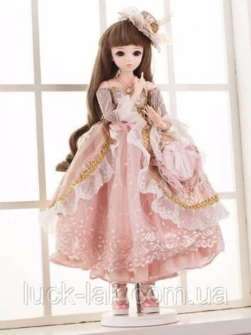 Шарнирная кукла BJD Белла рост 60 см, коричневый цвет волос + одежда и обувь в подарок 1 /3