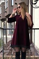 Нарядное молодёжное платье с кружевом 50-52