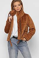 Женская куртка оверсайз из ткани вельвет рр 42-48
