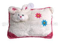 Подушка Кролик бело-розовая
