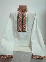 Детская белая хлопковая рубашка для мальчика с красной вышивкой Киевлянин - 2 Piccolo L