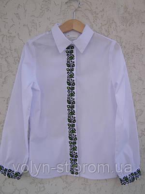Вышитая рубашка для девочки, с потайной застежкой