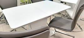 Стол обеденный раскладной в стиле модерн DALLAS (Даллас) T-7247  Super white satin  Evrodim