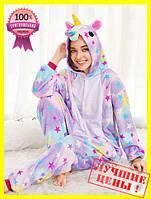 Оригинал!Кигуруми слип для девочки звёздный единорог,комбинезон пижама