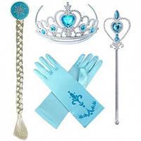 Детский игровой набор: комплект украшений для Эльзы - голубой
