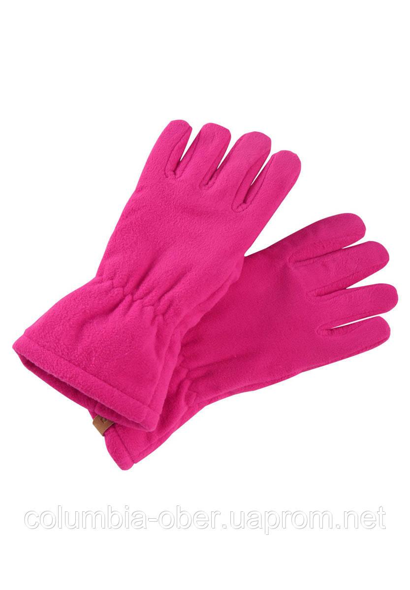 Демисезонные флисовые перчатки для девочки Reima Varmin 527329-4650. Размеры 3/4 и 5/6.