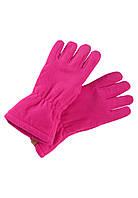 Демисезонные флисовые перчатки для девочки Reima Varmin 527329-4650. Размеры 3/4 и 5/6., фото 1