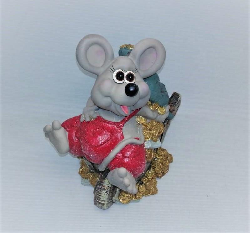 Копилка Мышь 22х12 см, Копилка мышь, подарок на Новый Год 2020, копилка символ Нового Года