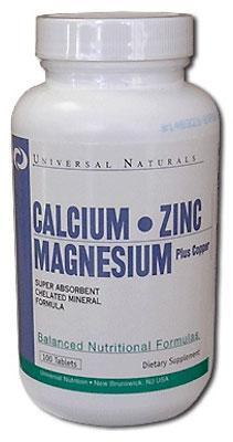 Calcium Zinc Magnesium Universal Nutrition (100 таб.)