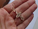 Золотой крест с белым цирконием, фото 3