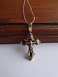 Золотой крест с белым цирконием, фото 8