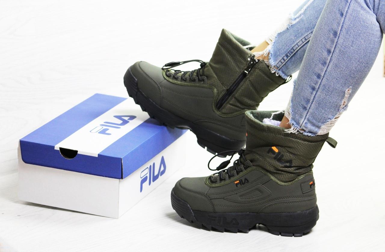 Женские утепленные ботинки Fila, 36-41
