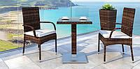 Набор плетеный для кафе Antilope IV стол 60х60 см +кресла Piccione