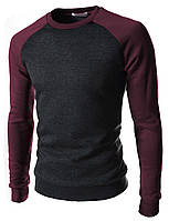 Модный мужской свитшот (реглан)  бордо