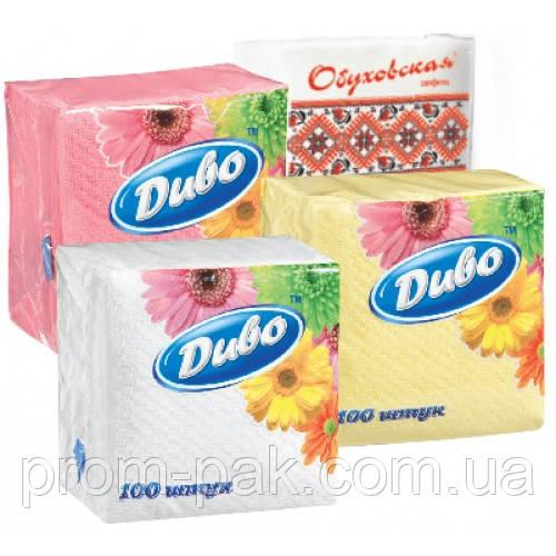 Бумажные салфетки Диво 330*330 100шт.