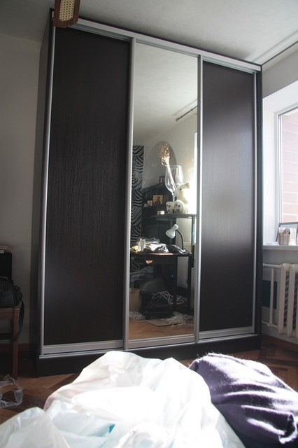 Шкаф-купе Браун-10, Размер 1770*600*2400 (цвет венге темный)